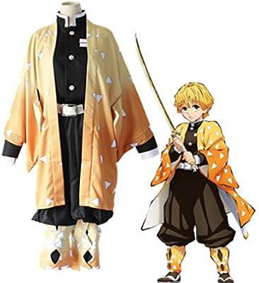 ZY Anime Demonio Slayer Cosplay Disfraz Agatsuma Zenitsu Kimetsu ...