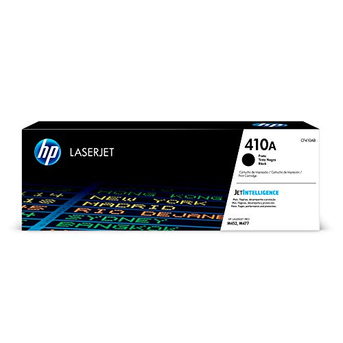 - HP 410A (CF410A) Toner Cartridge, Black for HP Color LaserJet Pro M452dn M452dw M452nw MFP M377dw MFP M477fdn MFP M477fdw MFP M477fnw