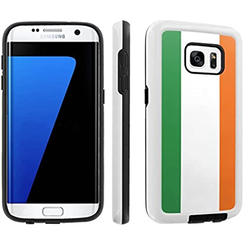 [Galaxy S7] [5.1 Screen] Armor Case [Skinguardz] [White/Black] Shock Absorbent Hybrid - [Irish Flag] for Samsung Sales