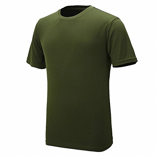 Maoko Mens Sports Short Sleeve Polyester T-Shirt,Running T Shirts for Boys Quick Drying - Hours North Park Dallas