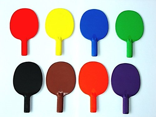 (Plastic Ping Pong Paddle - set of 6 colors, 10