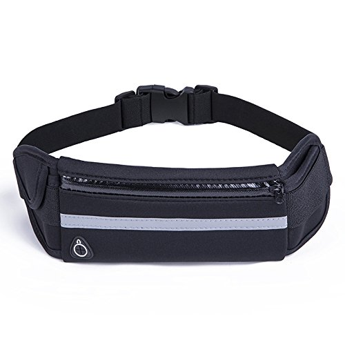 Slim Running Belt - Running Waist Pack Bounce Free Waist Pouch Exercise Workout Belt for Women&Men,Waist Bag for Apple iPhone 8 X 7 6+ 5s Samsung in Running Gym Marathon Cycling by Tuboot