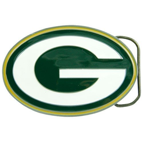 Great American Products Green Bay Packers NFL Logo Belt Buckle by Football Fanatics