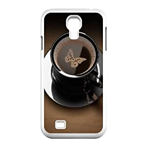 Butterfly in Coffee Cup Samsung Galaxy S4 9500 Cell Phone Case White DIY present pjz003_6338416
