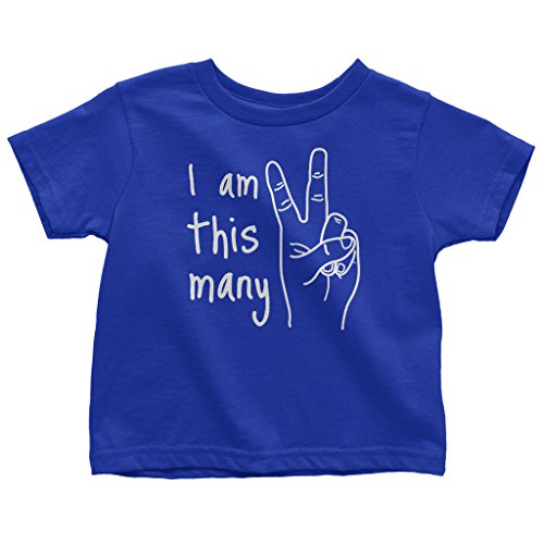 Mixtbrand Little Boys' I Am This Many 2nd Birthday Toddler T-Shirt 2T - Familia Tee