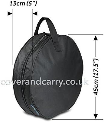 coverandcarry Tragetasche für Wasserschlauch, XXL, hochwertiger 600D-Polyester, mit Tragegriff und seitlichem Reißverschluss, für eine geschützte und ordentliche Aufbewahrung