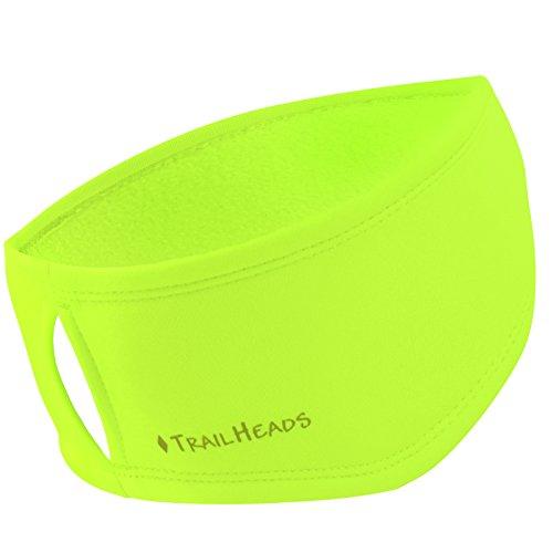 TrailHeads Women's Ponytail Headband | Moisture Wicking Ear Band | The Power Running Headband - hi-vis