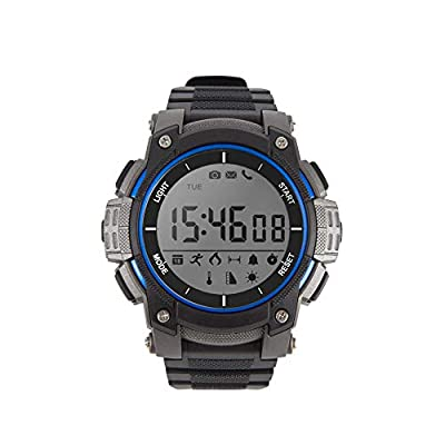 Dobest Smart Watches Mens Sports Bluetooth Watch Pedometer Wearable 30 Meter Diving Waterproof Remote Camera Running Equipment for Android and IOS Black by DoBest