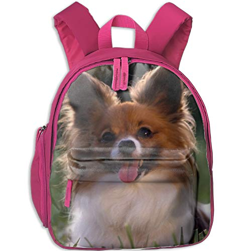 A Cute Little Papillion Backpacks Junior School Book Bag Travel Hiking Camping Daypack