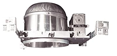 NICOR Lighting 6-Inch IC Rated Shallow Recessed New Construction Housing (17014A)
