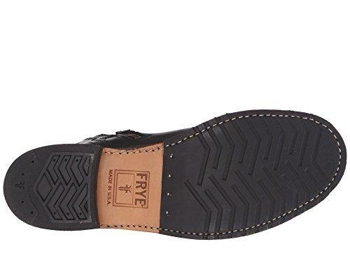 Frye Men's Logan Engineer Inside Zip Black Vintage Pull Up Boot (Frye Boots Logan)
