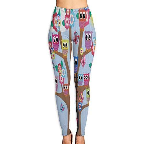 Custom Funny Owl Butterfly Tree Yoga Pants Leggings Pants for Yoga Running Pilates Gym