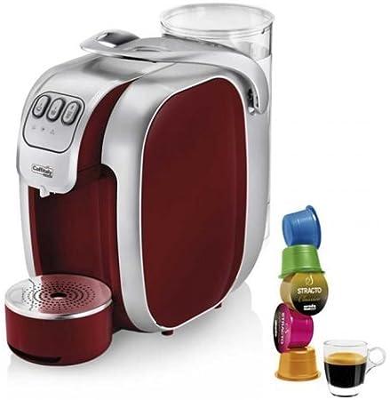 Máquina de café Caffitaly Nautilus S07 roja y 50 Cápsulas