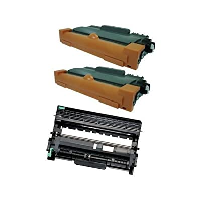 2 TN450 Toner + 1 DR420 drum for Brother MFC-7360 MFC-7460 MFC-7860 DCP-7060(Up to 2,600 Pages at 5% coverage for TN450 toner cartridge, 12,000 Pages at 5% coverage for DR420 Drum)