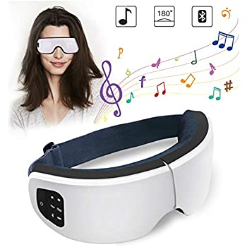 Eye Massager with Heating and Air Pressure, Foldable and Portable Eye Care Massager for Eye Fatigue Relief, Eye Therapy Massager for Improving Blood Circulation and Sleep Quality