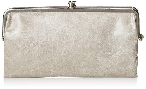 - HOBO Vintage Lauren Leather Wallet, Cloud, One Size