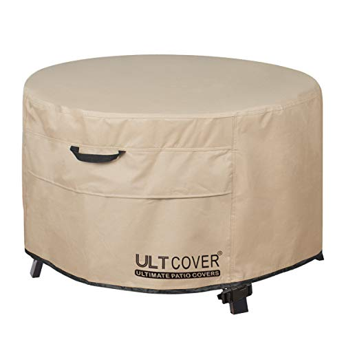 ULTCOVER Patio Fire Pit Table Cover Round 36 inch Outdoor Waterproof Fire Bowl Cover