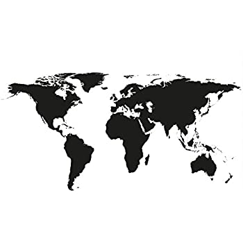 Amazon great art wallpaper picture of world map black and white great art wallpaper picture of world map black and white for mural decoration globe map of gumiabroncs Choice Image