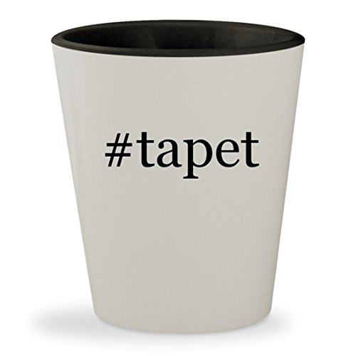 Price comparison product image #tapet - Hashtag White Outer & Black Inner Ceramic 1.5oz Shot Glass