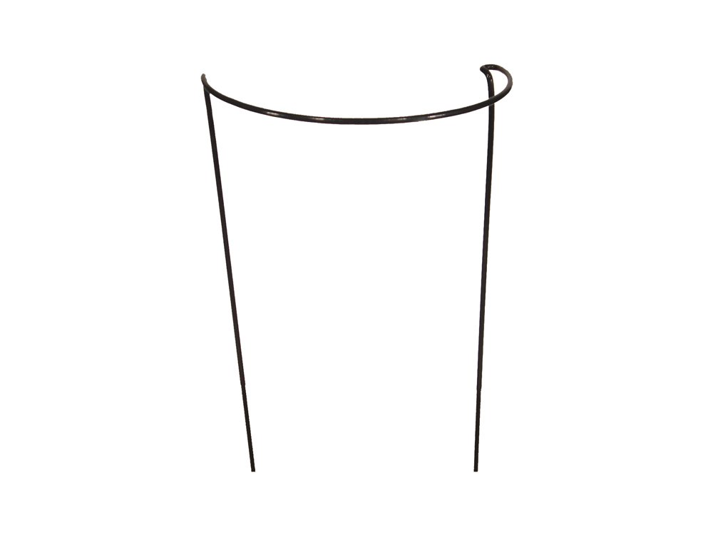 Bow Plant Supports for Peonies, Hydrangea, Roses, etc - Strong Metal Garden Supports - Interlinking to make rows, circles, cloverleaves, etc (Pack of 3 - Low (40cm high x 42cm wide)) Garden Pride