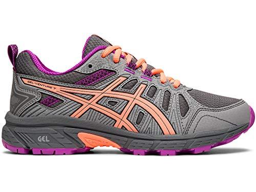 ASICS Kid's Gel-Venture 7 GS Running Shoes, 2.5M, Metropolis/Black (Shoes Girl Running)