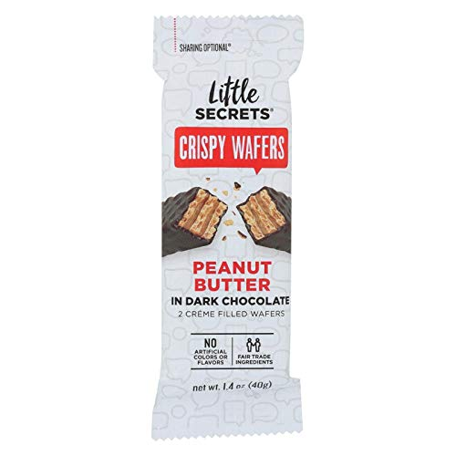 LITTLE SECRETS Peanut Butter with Dark Chocolate Crispy Wafers, 1.4 OZ