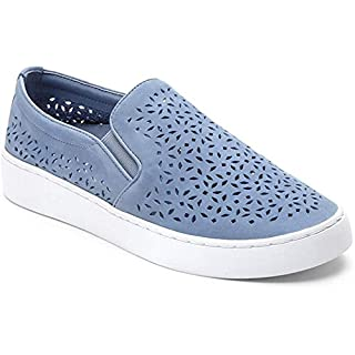 Vionic Women's Splendid Midi Perf Slip-on - Ladies Sneakers with Concealed Orthotic Arch Support