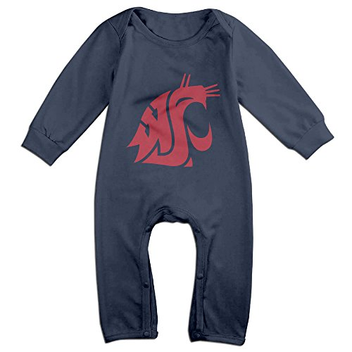 Washington State University Clothing (Cute Washington State University Cougars Climbing Clothes For Newborn Baby Navy Size 12)
