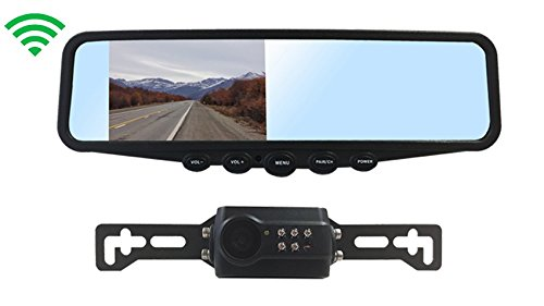 Tadibrothers Digital Wireless License Plate Backup Camera with Clip On - Tadibrothers Mirror Backup Camera