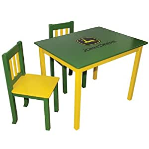 Green Table & Two Chairs