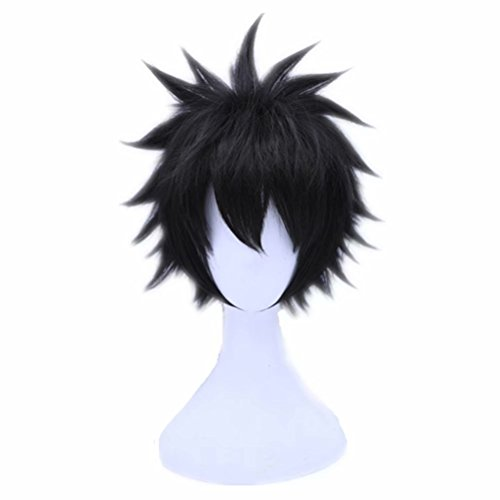 COSPLAZA Cosplay Wigs Short Black Boy Male Halloween Cosplay Costume Wigs Soft Hairs]()