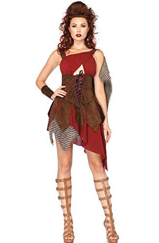 Leg Avenue Women's 3 Piece Deadly Huntress Costume, Brown, Medium