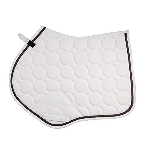 Horze Turner Extra Breathe All Purpose Saddle Pad White Pony (Pads Purpose Saddle Quilted)
