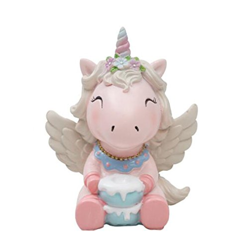 Unicorn Cake Topper, Party Decoration For Wedding Birthday Party (Pink)