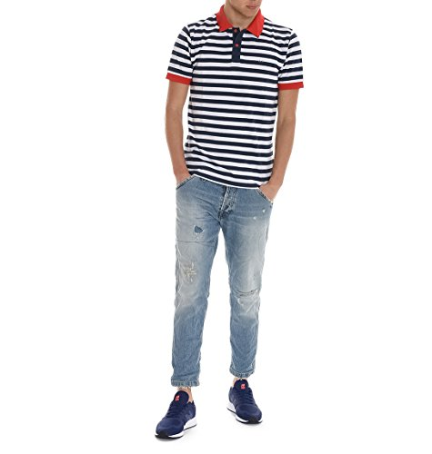 Sun 68 Herren 171210701 Blau Baumwolle Poloshirt