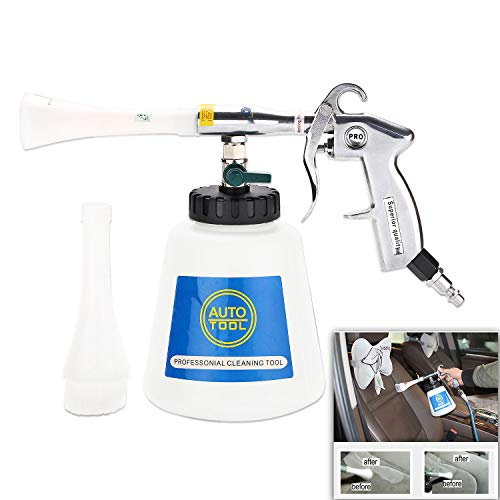 CPROSP Car Cleaning Gun Interior Washing Air Blow Gun Automotive Air Pulse Cleaning Equipment High Pressure Foamaster Nozzle Sprayer with 1L Foam Bottle