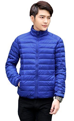 Down Parka Reversible Duck Puffer M Dark Coat Men Bigood Blue 90 Short Jacket xFI0nqR