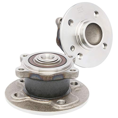 [2-Pack/Pair] 512427 New Wheel Hub and Bearing Assembly fits REAR for 2007-2015 MINI Cooper [Cross Reference: BR930763, 051-6341, WA512427] from QJZ