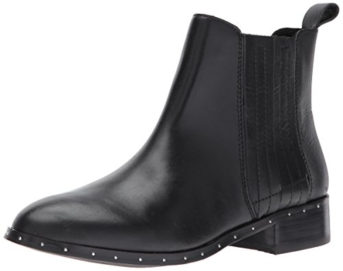 (Steve Madden Women's Orchid Ankle Bootie, Black Leather, 8 M US)