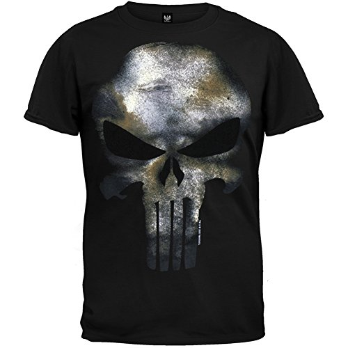 Marvel The Punisher Men's No Sweat T-Shirt, Black, X-Large
