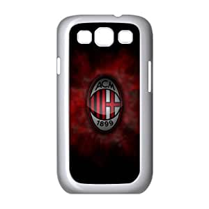 Samsung Galaxy S3 9300 Cell Phone Case White AC Milan Football pux