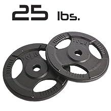 25lbs Cast Iron Grip Standard Plates 1 Inch