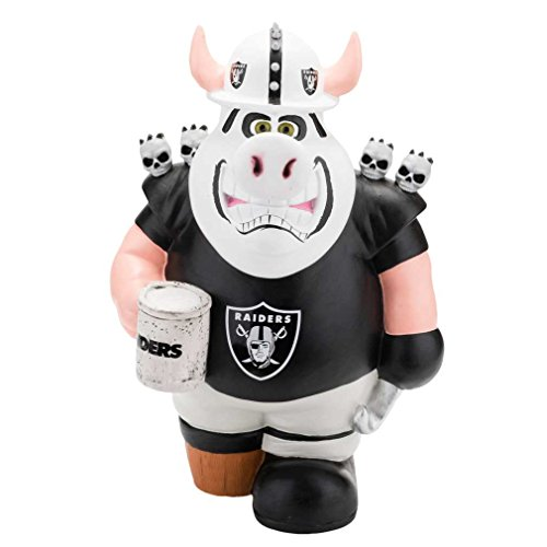 Forever Collectibles Oakland Raiders Mascot Piggy Bank