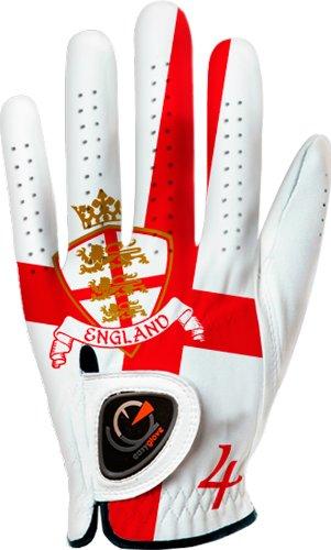 Easygloveフラグ_ Englandメンズゴルフグローブ(ホワイト) Small  B00IUGHL6C