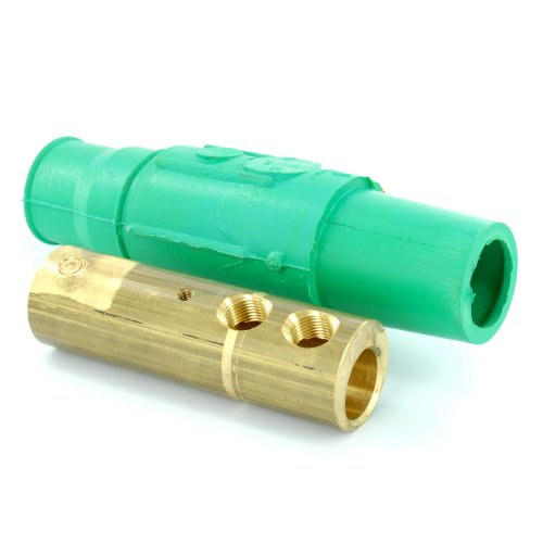 Leviton 17D23-G 17 Series Taper Nose, Female, Plug, Detachable, 250-350MCM Awg, Industrial Grade, Cam-Type Connector, Green by Leviton