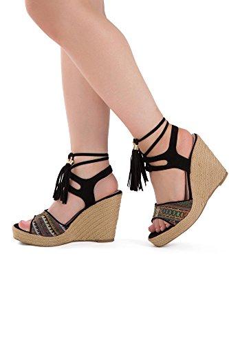 Lusty Chic , Damen Peep Toes , Schwarz - schwarz - Größe: 41