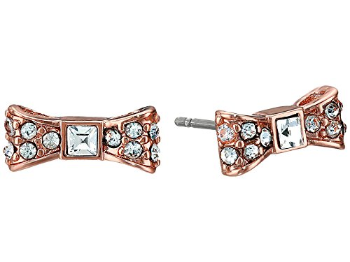 Kate Spade New York Boucles doreille à tige Small Crystal Bow Rose Gold