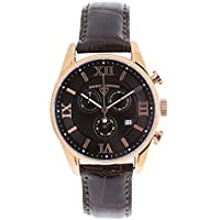 Swiss Legend Men's 'Bellezza' Quartz Stainless Steel and Crocodile-Grain Leather Watch, Dark Burgundy 22011-RG-01-AAT22M