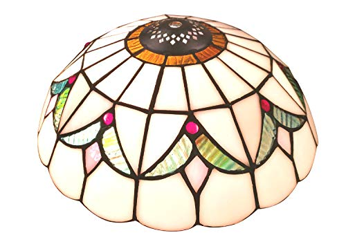 NOSHY SH-032 Premium Baroque Style Tiffany Ceiling Light Lamp Shades Only, Replacement Pendant Lighting Accessories, Stained Glass Lamp Chimney, 10-Inch Width, Pack of 1