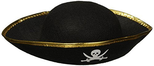 Rhode Island Novelty - Kids Felt Pirate Party Hat (Hat Pirate Felt Black)